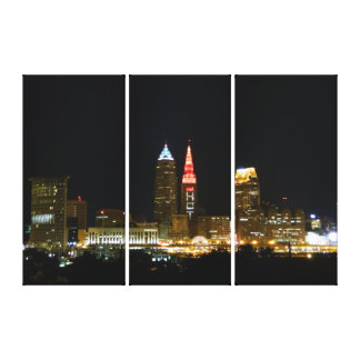 (Hot Tower Lights) Cleveland, OH  Canvas Print