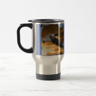 Hot Travel Mug Honking Goose