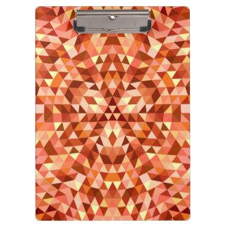 Hot triangle mandala clipboard