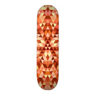 Hot triangle mandala custom skateboard