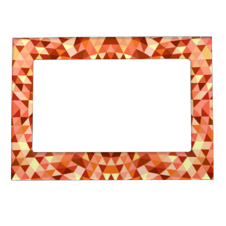 Hot triangle mandala magnetic picture frame