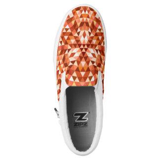 Hot triangle mandala slip on shoes