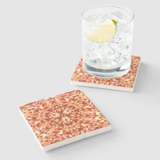 Hot triangle mandala stone beverage coaster