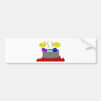 hot tub bumper sticker