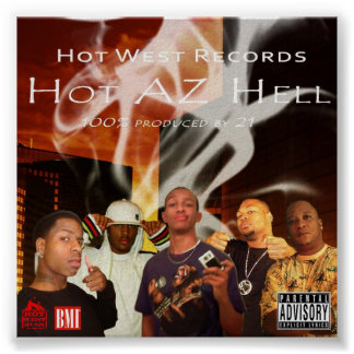 Hot West Records Poster