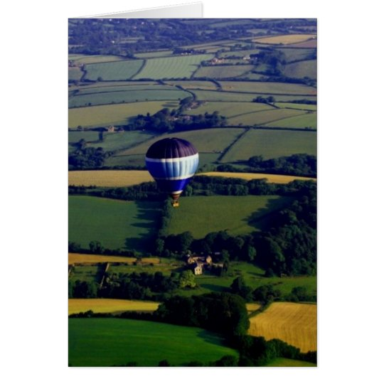 Hotair Ballon And View Card