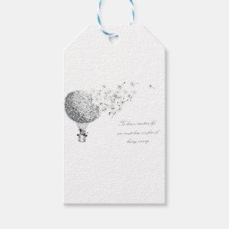 hotair dandylion gift tags