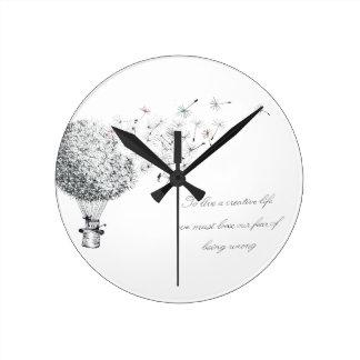 hotair dandylion round clock