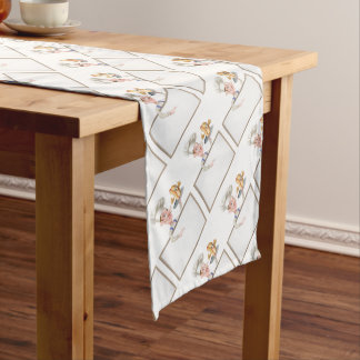 Hotdog Cartoon Chef Signboard Short Table Runner