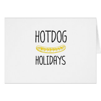 Hotdog Holidays Party Family Funny Card