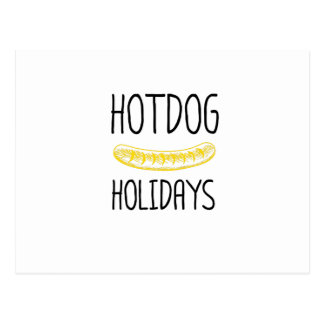Hotdog Holidays Party Family Funny Postcard
