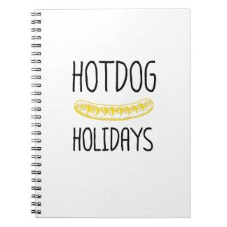 Hotdog Holidays Party Family Funny Spiral Notebook