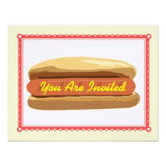 Hotdog Invitation- Summer Backyard Barbque Cookout