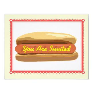 Hotdog Invitation- Summer Backyard Barbque Cookout Card