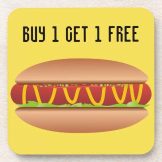 Hotdog picture coaster