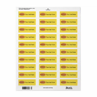 Hotdog picture return address label