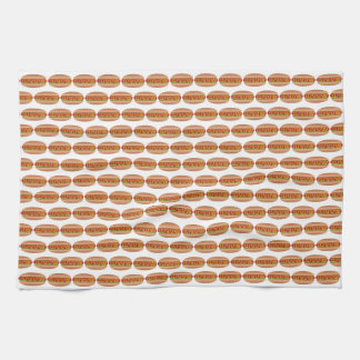 Hotdog picture tea towel