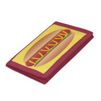 Hotdog picture trifold wallet