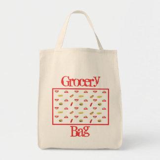 Hotdogs and Hamburgers Grocery Tote Bag