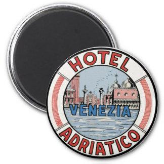 Hotel Adriatico in Venice 6 Cm Round Magnet