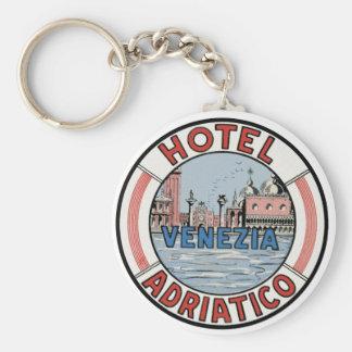 Hotel Adriatico in Venice Keychains