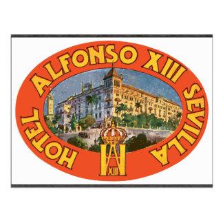 Hotel Alfonso Xiii Sevilla , Vintage Postcard