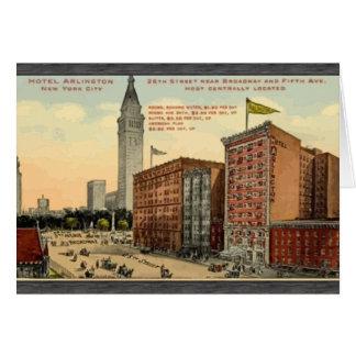 Hotel Arlington New York City , Vintage Greeting Card