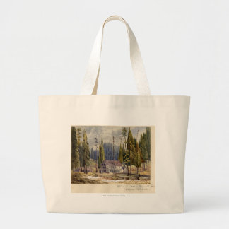 Hotel at the Grove of Mamoth Trees Large Tote Bag