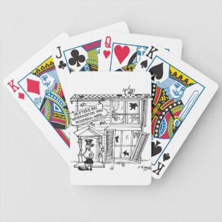 Hotel Cartoon 3442 Bicycle Playing Cards