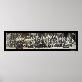 Hotel Clerk Decatur IL Photo 1910 Print