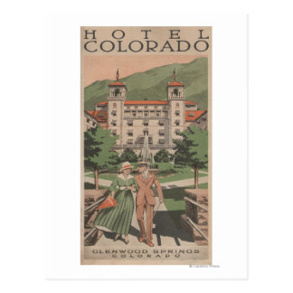 Hotel Colorado Travel Poster Postcard