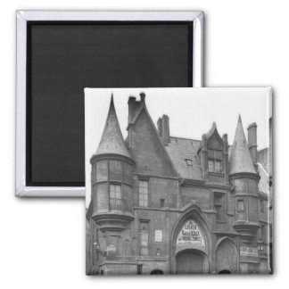 Hotel de Sens, late 19th century-early Square Magnet