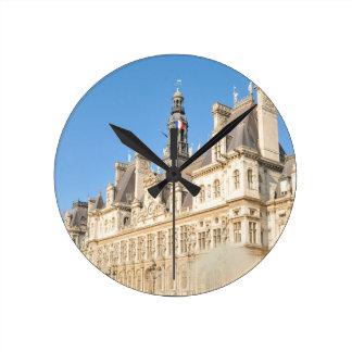 Hotel de Ville (City Hall) in Paris, France Wallclocks
