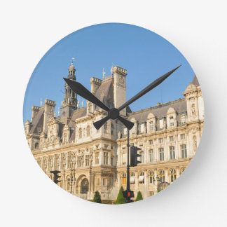 Hotel de Ville in Paris, France Wall Clock