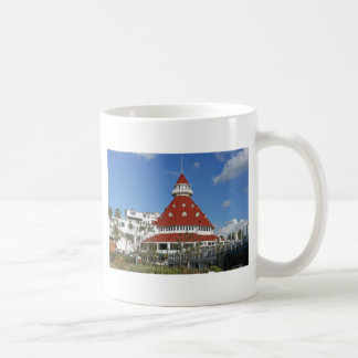 Hotel Del Coronado from beach Coffee Mug