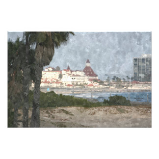 Hotel Del Coronado, oil painting Photograph