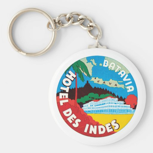Hotel Des Indes Luggae Label Key Chain