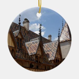 Hotel-Dieu De Beaune France Building Architecture Ceramic Ornament