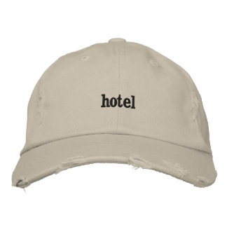 Hotel Embroidered Hat
