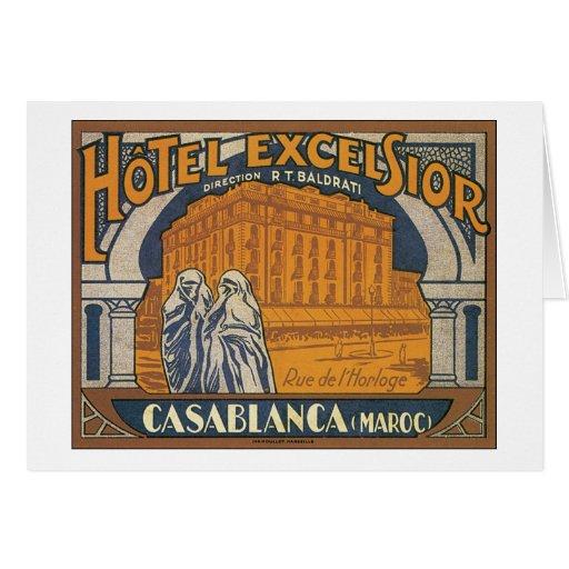 Hotel Excelsior Casablanca Greeting Card