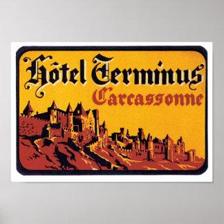 Hotel Ferminus Label Poster