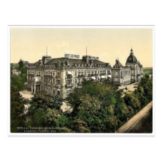 Hotel Kaiserhof and Augusta Victoria Baths, Wiesba Postcard