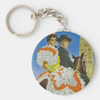 Hotel Madrid Basic Round Button Key Ring