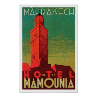 Hotel Mamounia Marrakech Poster