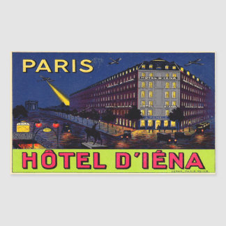 Hotel of Iéna (Paris) Rectangular Sticker