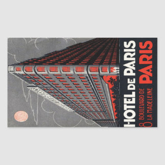 Hotel of Paris (Paris) Rectangular Sticker