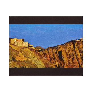 Hotel on a Rock Canvas Print