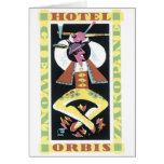 Hotel Orbis Travel Poster Greeting Cards