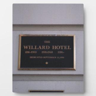 Hotel Plaque