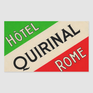 Hotel Quirinal (Rome Italy) Rectangular Sticker